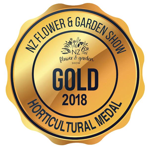 NZ flower & Garden show Gold award 2018